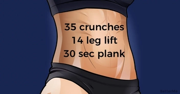30-day abs challenge can help you slim down the belly
