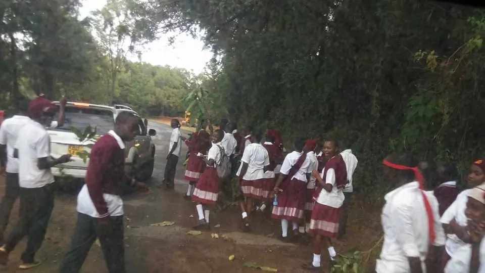 Students leave school after midnight to protest KCSE results