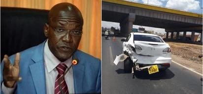 Former Kakamega senator Boni Khalwale and wife survive a road accident along Mombasa road