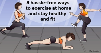 8 hassle-free ways to exercise at home and stay healthy and fit