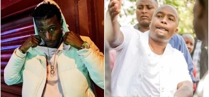 Controversial Kenyan rapper clashes with Starehe MP Jaguar over the anti-IEBC demos
