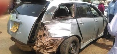 Photos: Accident outside Safaricom House, Westlands