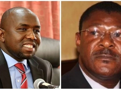 Moses Wetang'ula spotted enjoying tea with Kipchumba Murkomen in Paris ahead of Raila's swearing-in