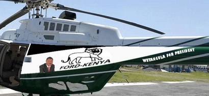 Wetangula allegedly unleashes new helicopter for 2017 elections (Photos)