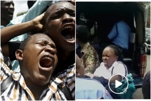Absolutely appalling video of Kenya police harassing an innocent woman