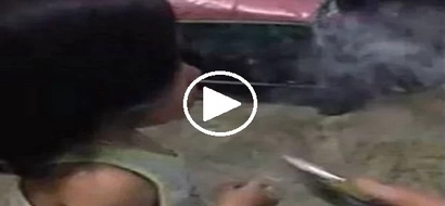 Tama ba ito? Watch how these parents taught their child how to use vape