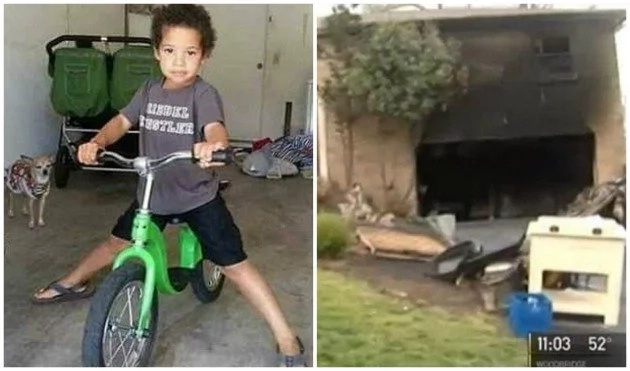 Tragedy as boy, 5, is KILLED in fire he accidentally started with a lighter (photos)