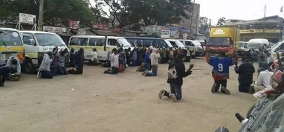 Touching photos of Matatu crew praying that has made Kenyans talk