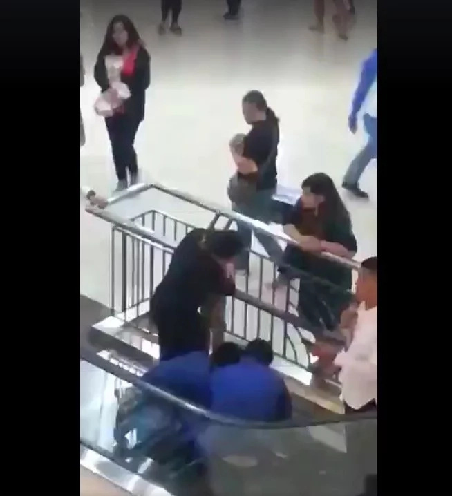 Rescue of woman trapped in BGC mall's escalator caught on video