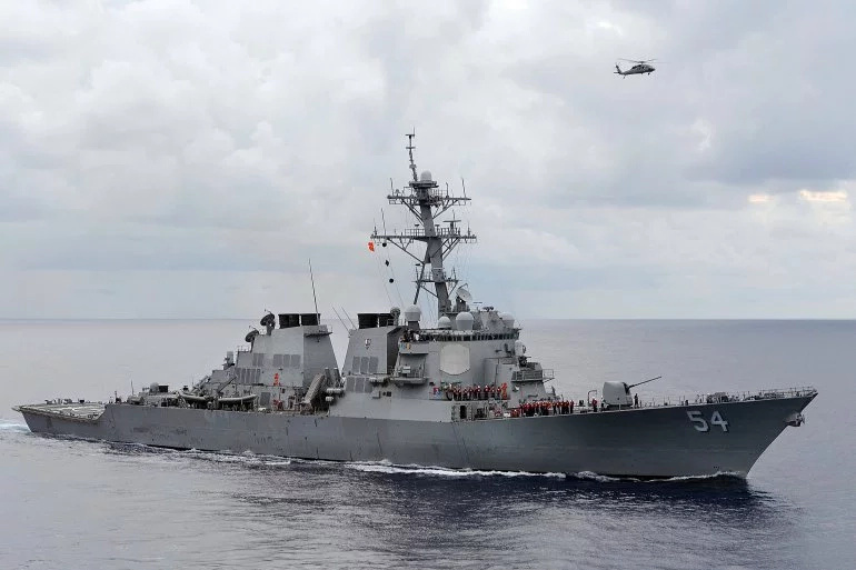 US missile destroyer arrives in Manila for port call