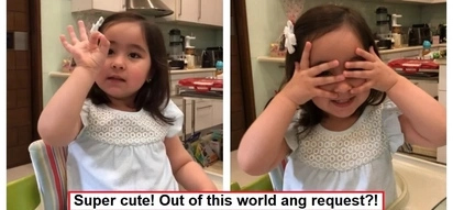 Good luck kay Mommy at Daddy! Scarlet Snow Belo tells her Daddy how she wants to celebrate her 3rd birthday