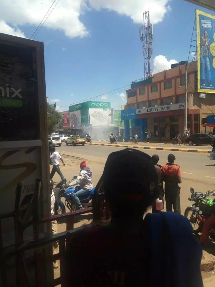 Eldoret town a no-go-zone as chaos erupt (photos, video)