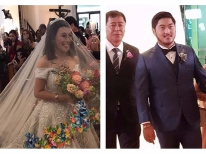 Congrats sa bagong kasal! Stunning photos & video of Ai-Ai delas Alas & Gerald Sibayan's church wedding go viral