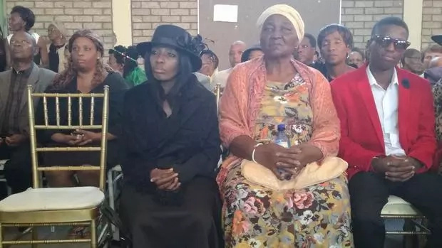 Some of the mourners at the memorial service