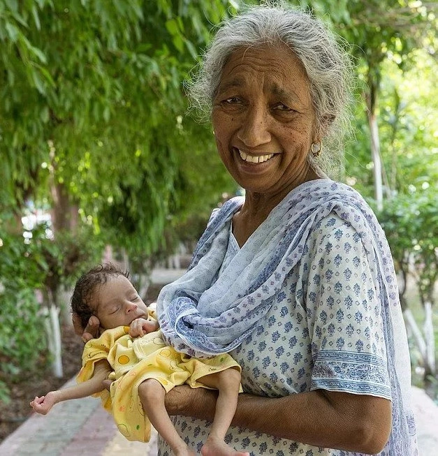 Woman who became mother at SEVENTY-TWO admits she barely copes with her 11-month-old daughter (photos)