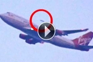 They recorded this video shortly after the plane took off. Does it mean we are not alone?