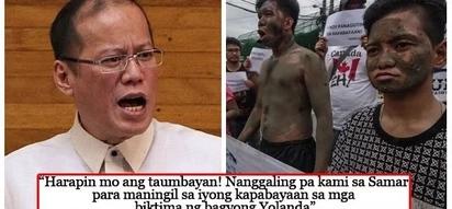 Binato ng putik ang bahay! Yolanda victims storm Aquino's residence calling for accountability and justice