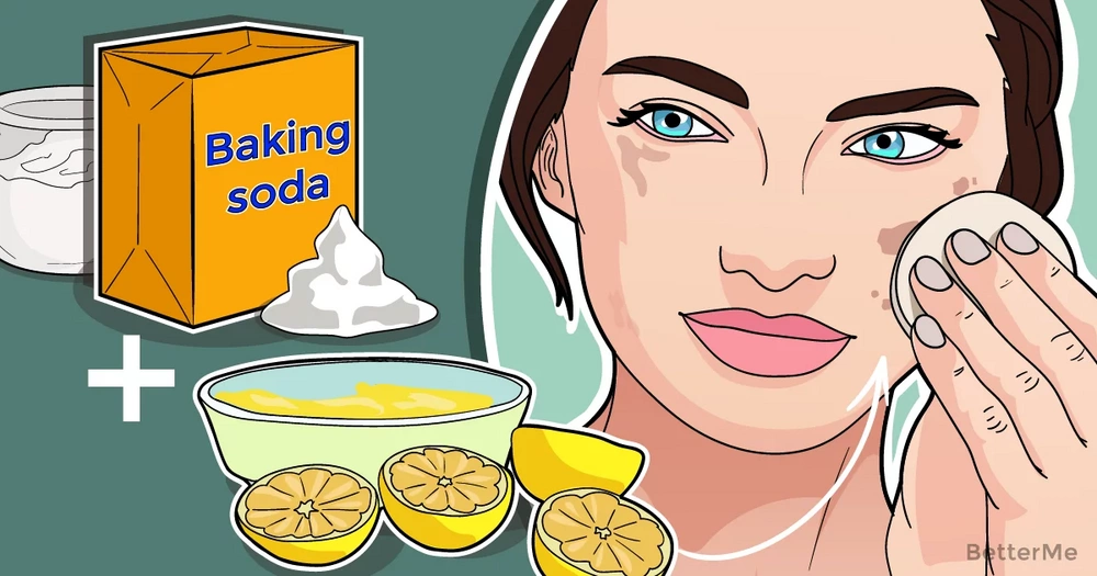 A baking soda and lemon face mask can help you reduce dark spots