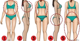 5 weight loss rules: losing weight, for each body part