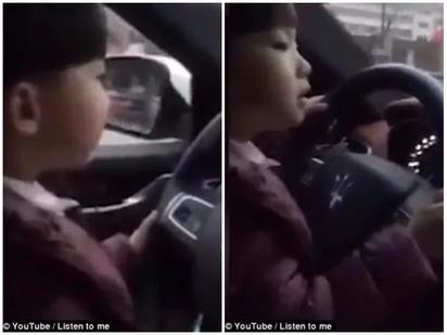 Toying with danger! Video of toddler driving Maserati while his father films sparks outrage
