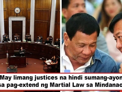 Di lahat ng justices sumang-ayon! 5 Supreme Court justices oppose majority's ruling upholding 1-year Martial Law extension in Mindanao
