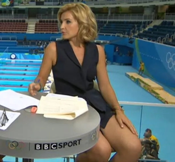 Olympic Host Flashed A Very Short Skirt On TV