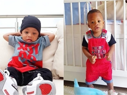 16 adorable photos of Diamond Platnumz and Zari's son Nillan that prove he is the coolest kid on the block