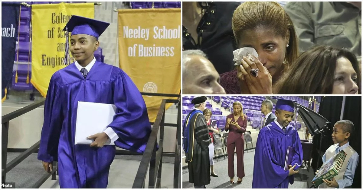 This 14-year-old boy becomes the YOUNGEST to graduate from his college (photos, video)