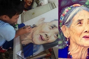 Kapampangan artist born with brittle-bone disease creates amazing portrait of Apo Whang Od