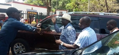 Raila storms Parklands Police station to secure Babu Owino's release