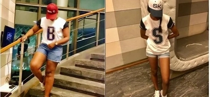 KTN's Betty Kyallo and her bestie step out in TINY booty shorts abroad for their vacation (photos)