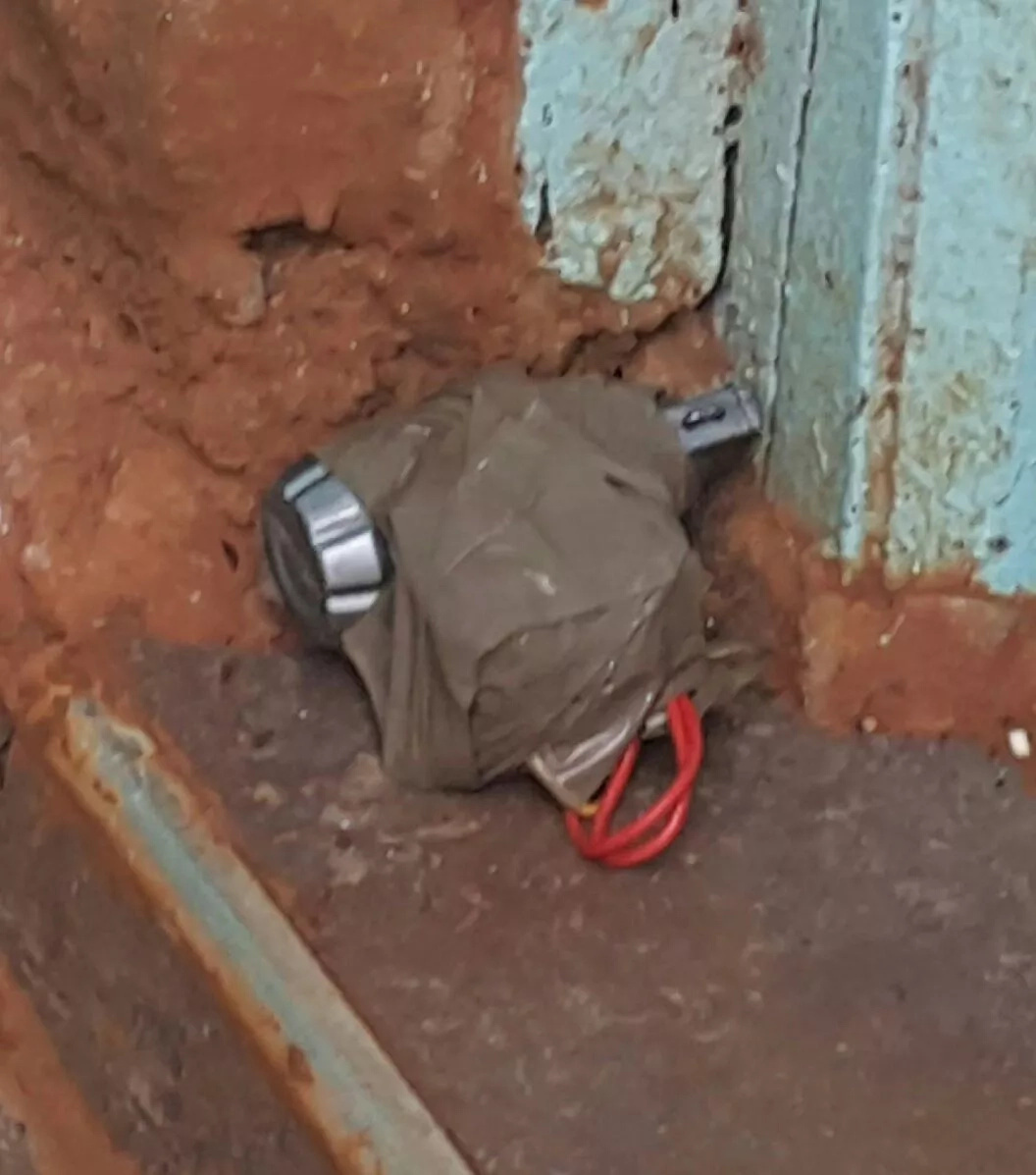 Watchman discovers explosive at church entrance