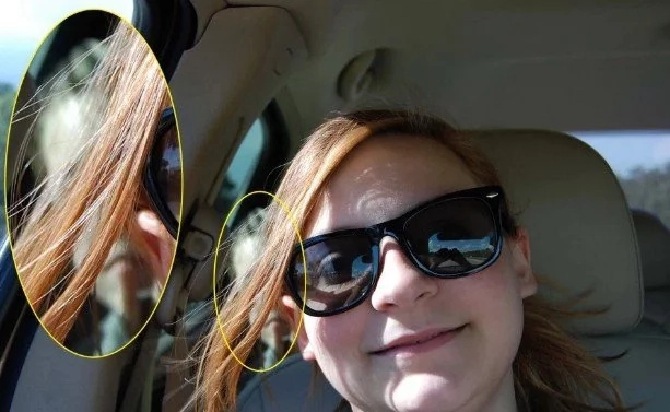 Girl Takes A Selfie In The Car, And Then She Sees CHILLING CREATURE In The Photo