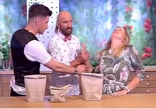 Magic trick fails as host's hand was impaled