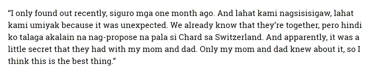 """""""SIYEMPRE, I WAS SHOCKED!"""" Find out What Annabelle Rama Said to Her Son Richard Before He Proposed to Sarah Labhati!"""