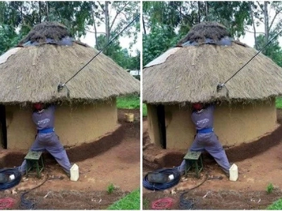 Photos of another thatched house being connected to electricity fires up emotions