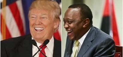 Rais wa Amerika Donald Trump hatimaye ampigia Uhuru SIMU, walizungumza kuhusu haya