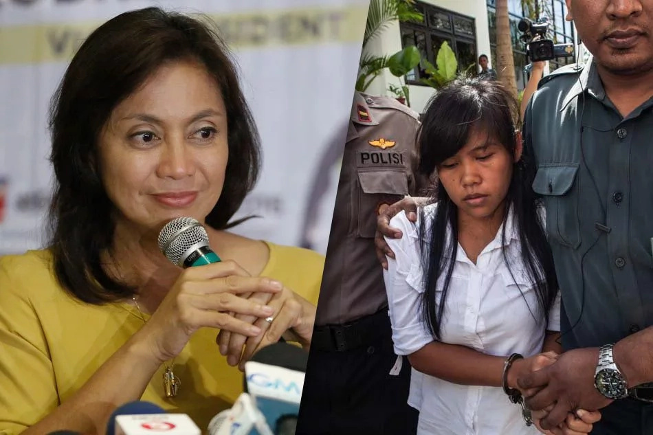 Robredo's statement on Duterte's approval of Veloso's execution