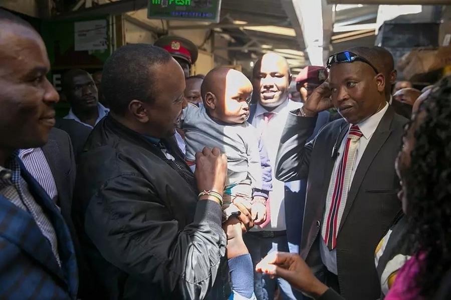 Hii ndio soko ya kwanza Rais Uhuru kutembea baada ya kutangazwa mshindi wa urais