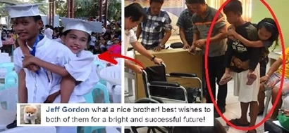 This selfless Pinoy teen repeated a school year so that he could carry his sister with disability to school. Their story is so inspiring!