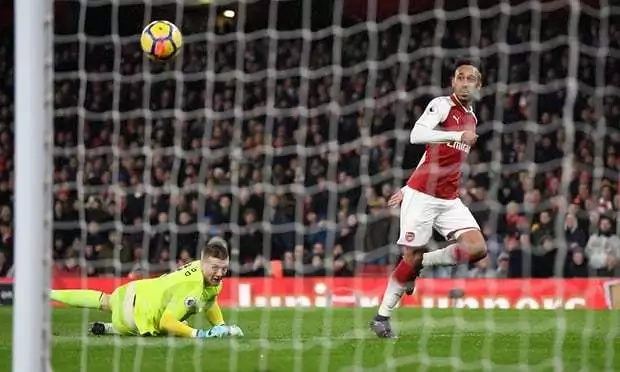 Ramsey scores a hat-trick as new signings Mkhitaryan and Aubameyang combine to help Arsenal hammer Everton