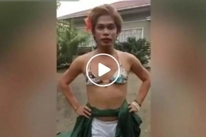 Social media personality Dyosa Pockoh answers Maxine Medina's question during Miss Universe Q and A in viral crazy video