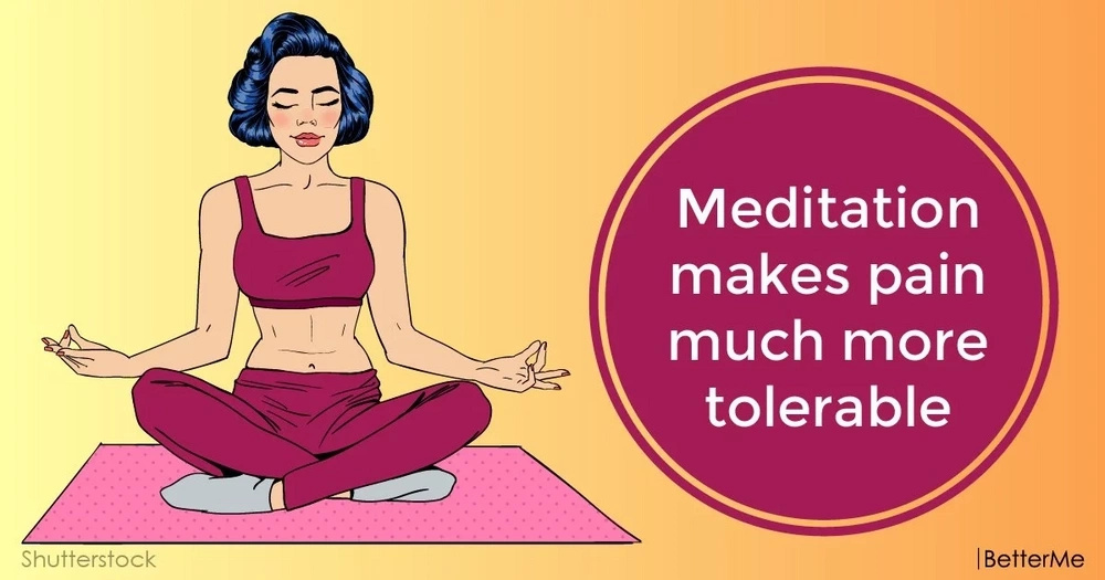 Meditation makes pain much more tolerable