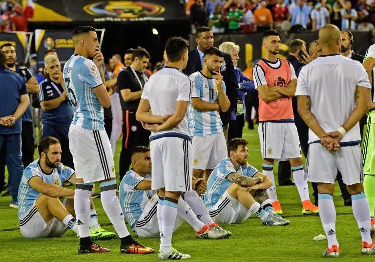 Las siete finales consecutivas que perdió la Selección Argentina
