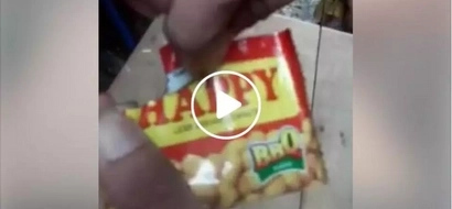 Piso isa! Netizens shocked by what they found inside HAPPY peanuts