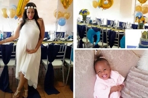 Diamond's wife reveals his UNBORN son's name and it's adorable (photos)
