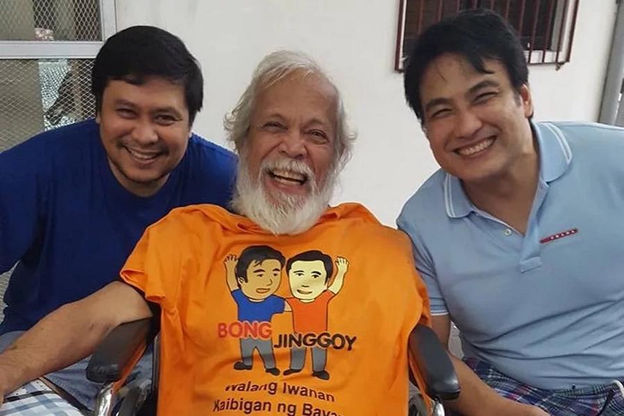 Dick Israel surprises co-actors Bong Revilla, Jinggoy Estrada with visit