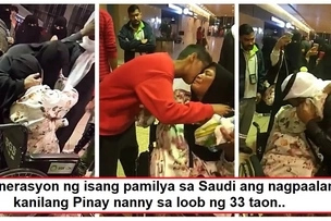 Nakaka-iyak sila! Pinay OFW's heartbreaking farewell with her Saudi employers of 33 years