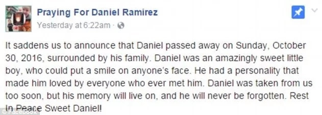 After Boy's Tragic Death, Parents Wrote This Post On Facebook...