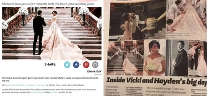 Pang-international talaga si Doc! Vicki Belo's pink blush wedding gown stuns populace around the world and she's featured in many int'l websites!